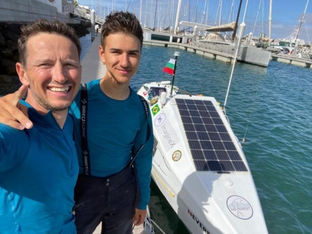 A new World Record set by Bulgarian father and son,  who crossed the Atlantic Ocean in a rowing boat