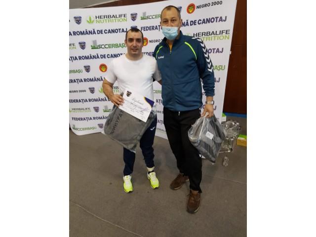 """Costi Mugea, ambasadorul proiectului """"Row Adventure"""", din nou pe podium la Campionatul Național de Ergometru"""